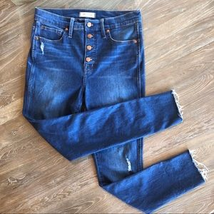 """Madewell 10"""" high-rise skinny jeans w/ button fly"""